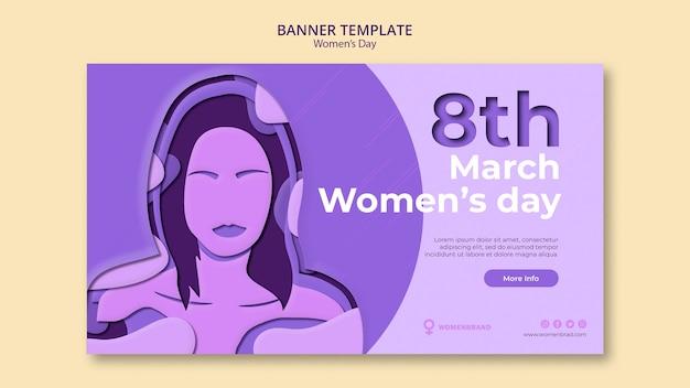 Plantilla de banner del día internacional de la mujer