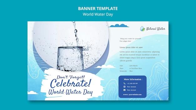Plantilla de banner del día mundial del agua