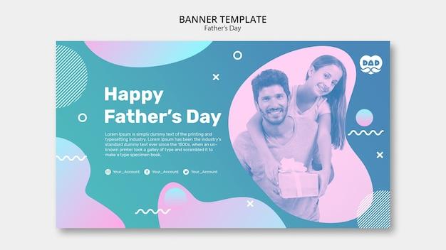 Plantilla de banner del día del padre colorido