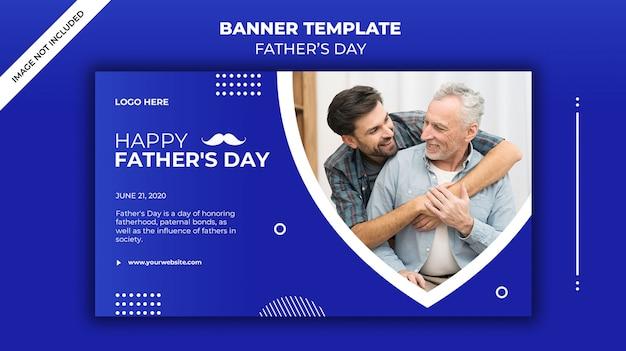 Plantilla de banner del día del padre
