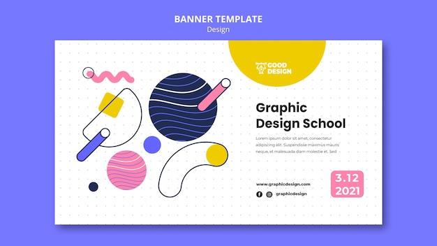 Plantilla de banner para diseño gráfico