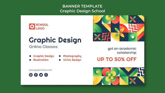 Plantilla de banner de diseño gráfico