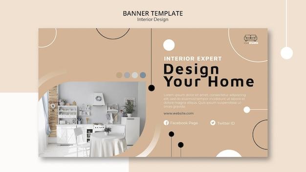 Plantilla de banner de diseño de interiores