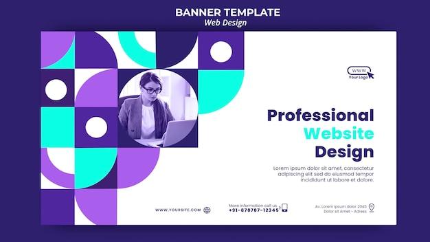 Plantilla de banner de diseño de sitio web profesional