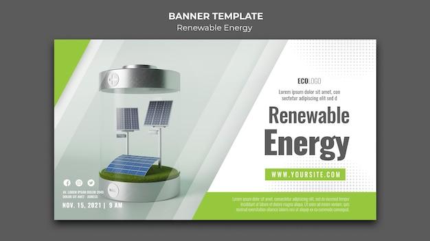 Plantilla de banner de energía renovable
