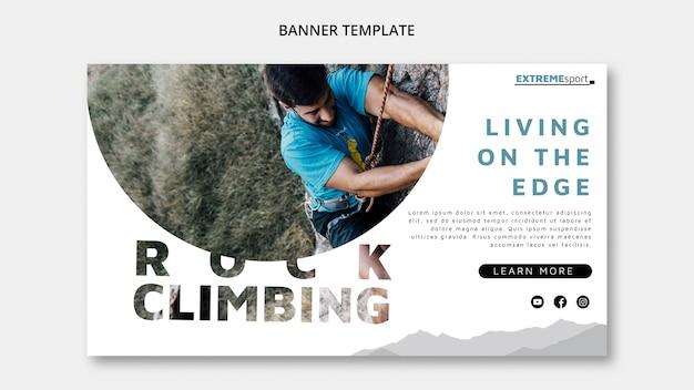 Plantilla de banner de escalada en roca