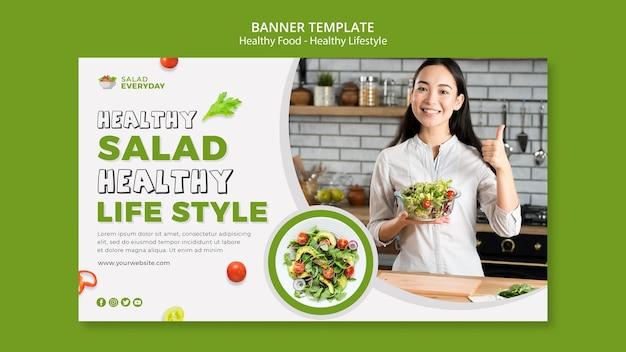 Plantilla de banner de estilo de vida saludable