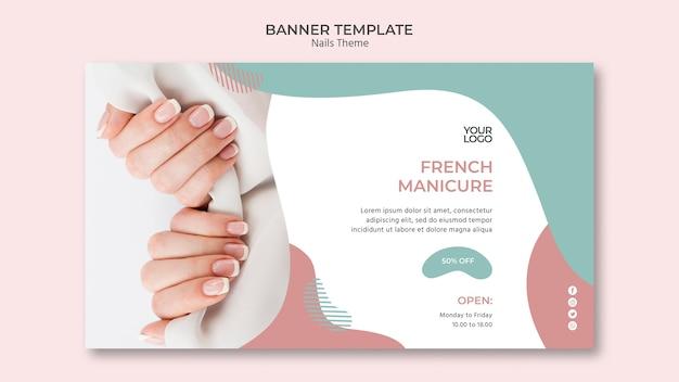 Plantilla de banner de estudio de uñas