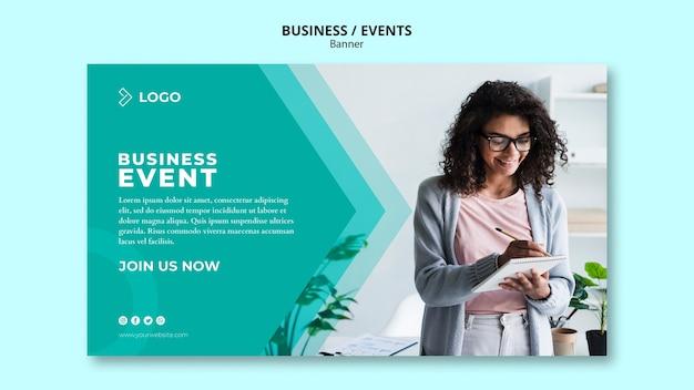 Plantilla de banner para evento empresarial