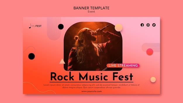 Plantilla de banner de evento musical