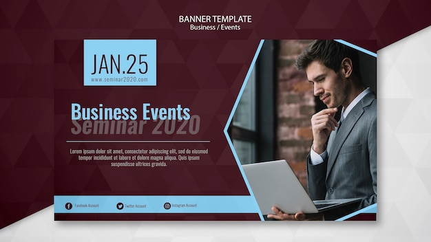 Plantilla de banner de eventos empresariales