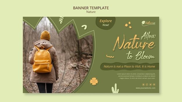 Plantilla de banner de exploración de la naturaleza