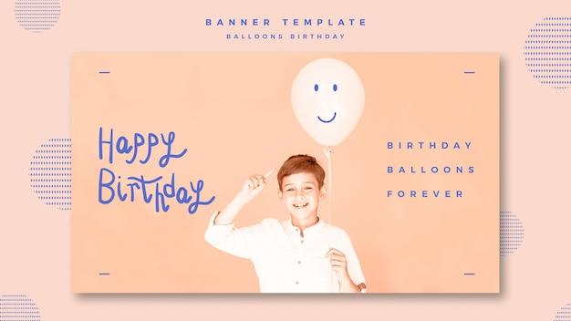 Plantilla de banner de feliz cumpleaños