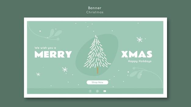 Plantilla de banner feliz navidad