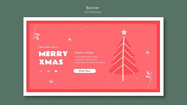 Plantilla de banner de feliz navidad