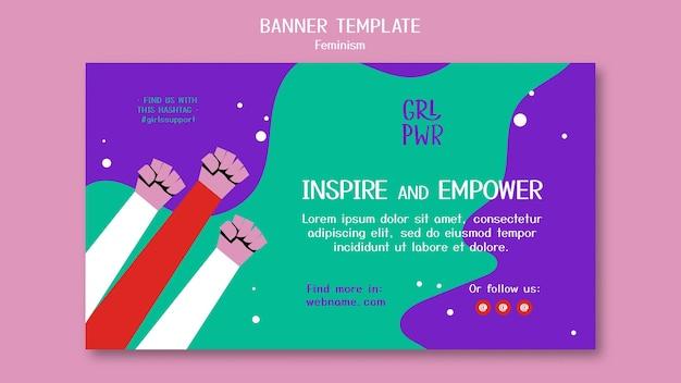 Plantilla de banner de feminismo