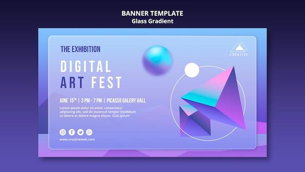 Plantilla de banner de festival de arte digital