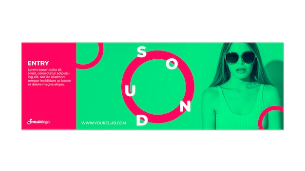 Plantilla de banner para festival de música