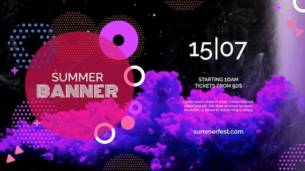 Plantilla de banner para festival de verano