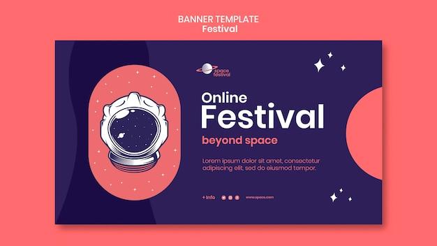 Plantilla de banner de festival