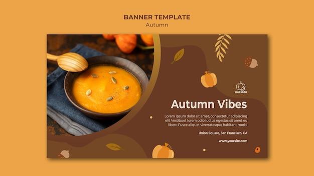 Plantilla de banner de fiesta de otoño