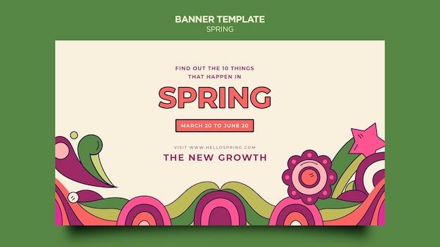 Plantilla de banner de fiesta de primavera