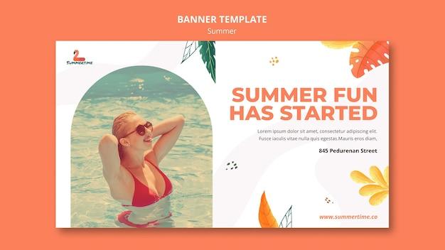 Plantilla de banner de fiesta de verano