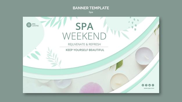 Plantilla de banner de fin de semana de spa de crema de tratamiento