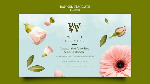 Plantilla de banner de florería