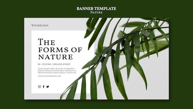 Plantilla de banner de formas de la naturaleza