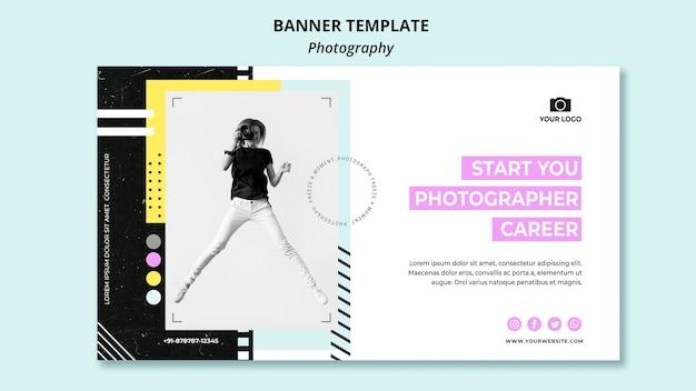 Plantilla de banner de fotografía creativa