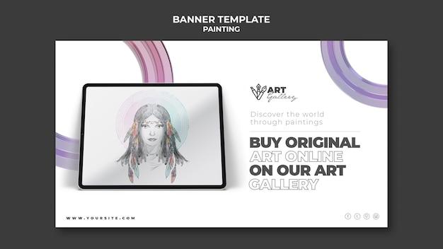 Plantilla de banner de galería de pintura