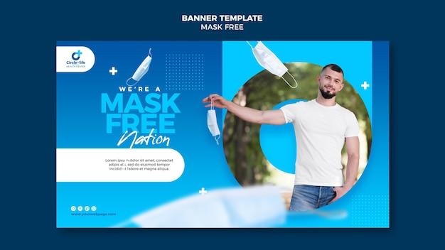 Plantilla de banner gratis de máscara