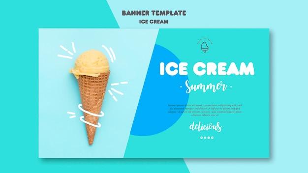 Plantilla de banner de helado