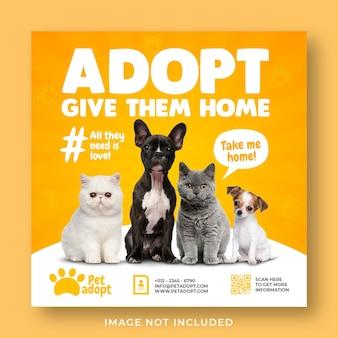 Plantilla de banner de historia de instagram de redes sociales de promoción de tienda de mascotas