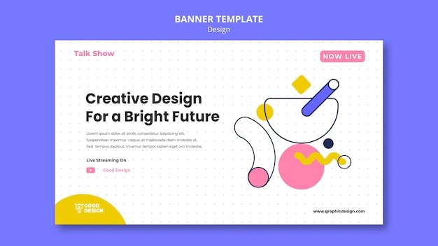 Plantilla de banner horizontal para diseño gráfico