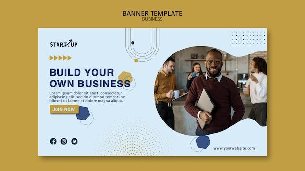 Plantilla de banner horizontal empresarial