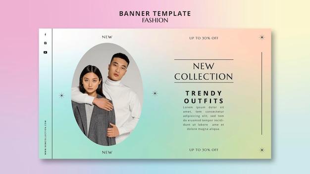 Plantilla de banner horizontal de nueva colección