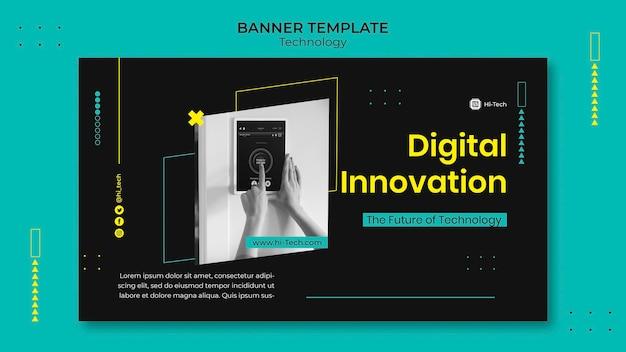 Plantilla de banner de innovación digital