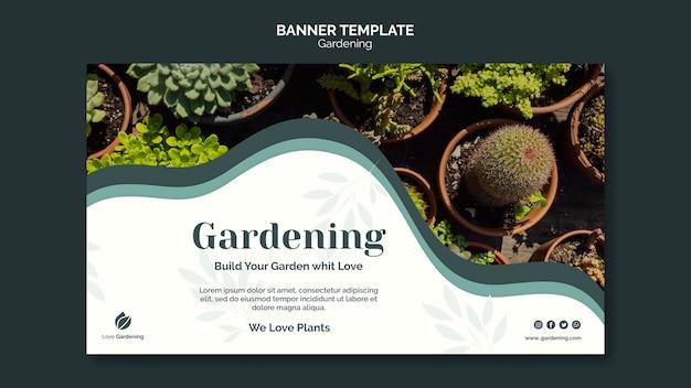 Plantilla de banner para jardinería