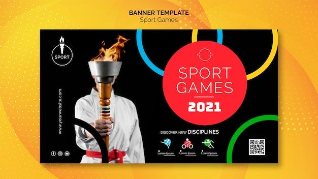 Plantilla de banner de juegos olímpicos