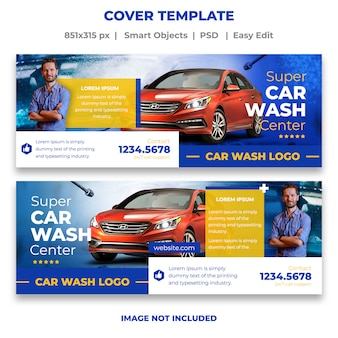 Plantilla de banner de lavado de autos