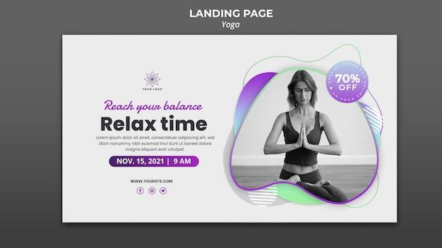 Plantilla de banner para lecciones de yoga