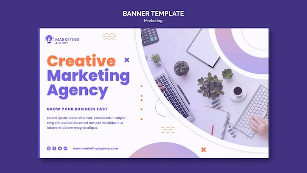 Plantilla de banner de marketing creativo