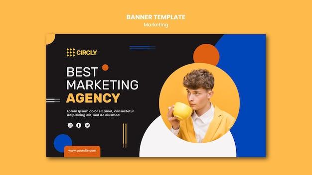 Plantilla de banner de marketing digital