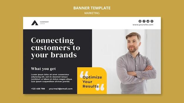 Plantilla de banner de marketing empresarial