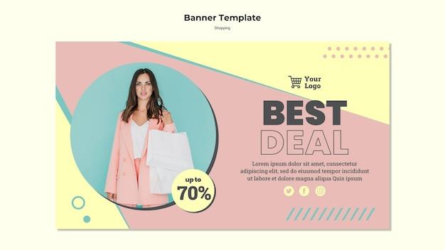 Plantilla de banner de mejor oferta de compras