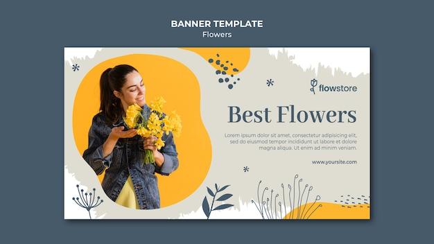Plantilla de banner de mejor ramo de flores