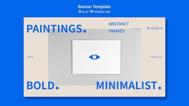 Plantilla de banner de minimalismo atrevido