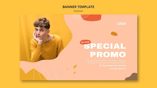 Plantilla de banner de moda masculina de venta especial